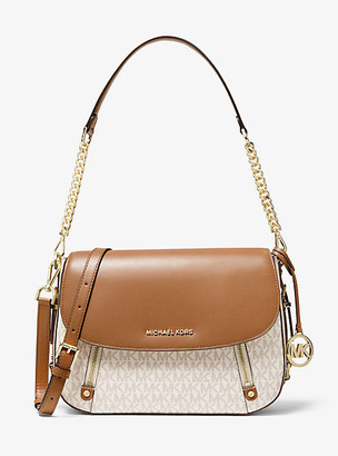 Michael Kors Bedford Legacy Medium Logo and Leather Shoulder Bag