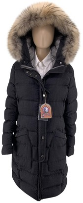 Parajumpers Black Wool Coat for Women
