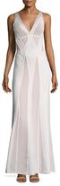 Herve Leger Pointelle Embellished Gown