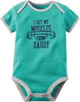Carter's Short-Sleeve Muscles Bodysuit - Baby Boys newborn-24m