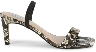 Saks Fifth Avenue Margaux Snakeskin-Embossed Leather Heeled Sandals