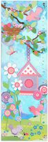 Oopsy Daisy Fine Art For Kids Too Aqua Flower Growth Chart Canvas Wall Art