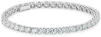 De Beers 18kt white gold DB Classic eternity line diamond bracelet