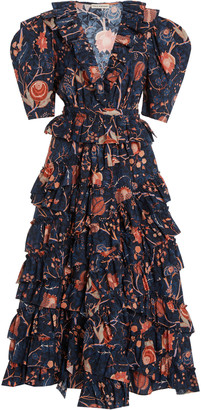 Ulla Johnson Aurora Ruffled Cotton Dress