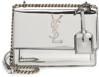 Saint Laurent Small Sunset Mirrored Leather Shoulder Bag
