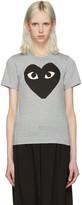 Comme des Garcons Grey Heart T-Shirt