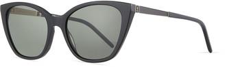 Saint Laurent Oversized Acetate Cat-Eye Sunglasses