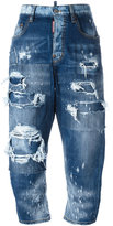 DSQUARED2 Kawaii distressed patchwork jeans