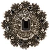 Alexander McQueen Silver Hematite Ring