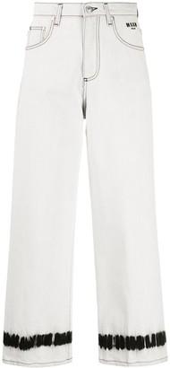 MSGM Dye Cuff Cropped Jeans