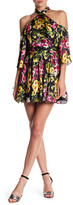 Jay Godfrey Floral Cold-Shoulder Dress