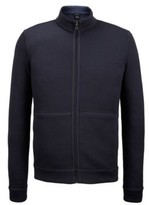 HUGO BOSS Reversible Cotton Full-Zip Sweater Scavo LBlue