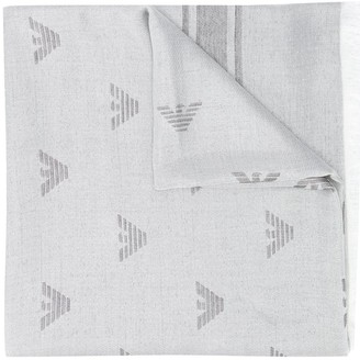 Emporio Armani All-Over Jacquard Logo Scarf
