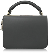 Sophie Hulme Finsbury Charcoal Leather Satchel Bag