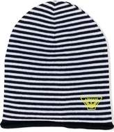 Armani Junior striped knit beanie