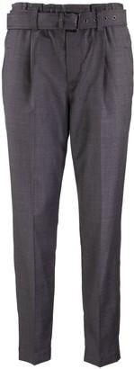 Brunello Cucinelli Trousers Dark Grey With Belt
