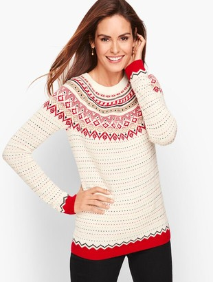 Talbots Diamond Fair Isle Sweater