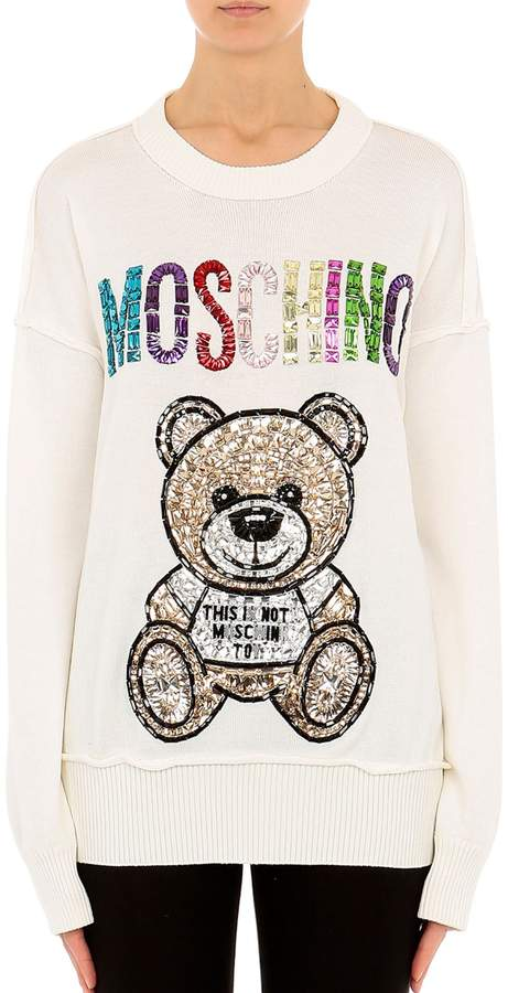 Moschino Embroidered Teddy Sweater