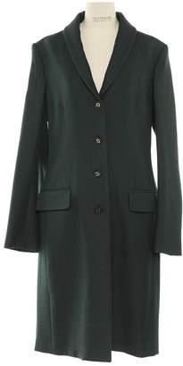 The Row Green Wool Coats
