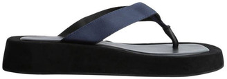 Tony Bianco Ives Navy Nylon Sandals