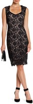 Marina Floral Lace Sheath Dress