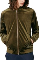 Topman Men's Velvet Bomber Jacket
