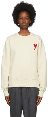Ami Alexandre Mattiussi Off-White Fleece Ami De Coeur Sweatshirt