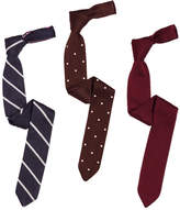 Modern Pointed-Tip Silk Knit Ties Set