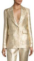 Rachel Zoe Rockefeller Metallic Jacquard Blazer