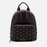 Karl Lagerfeld Women's K/Piercing Backpack - Black/Black