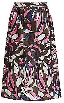 Max Mara Women's Lisa Tropical Floral Midi Skirt