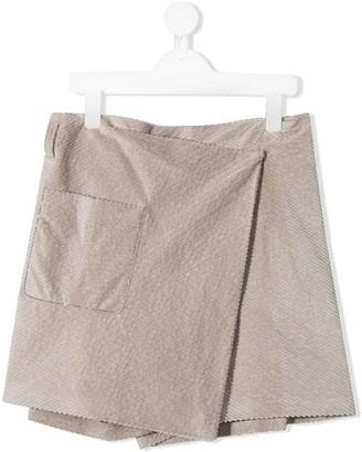 BRUNELLO CUCINELLI KIDS TEEN corduroy wrap shorts