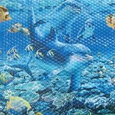 Camilla And Marc Papillon 52 x 52 cm Safety Shower Dolphins Mat, Blue