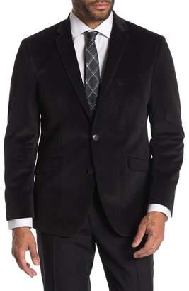 Kenneth Cole Reaction Textured Black Velvet Slim Fit Evening Jacket