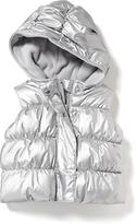 Old Navy Hooded Metallic Frost Free Vest for Baby