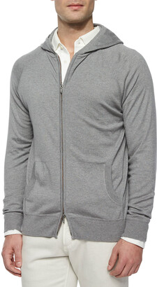 Loro Piana Hooded Full-Zip Bomber Sweater
