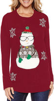 TIARA INTERNATIONAL Tiara Snowman Crew Neck Sweater