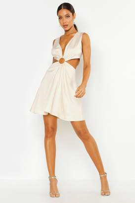 boohoo Cut Out Luxe Mini Dress