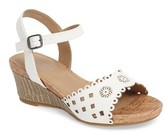 Kenneth Cole New York Girl's Swirl Laser Wedge Sandal