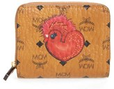 MCM Women's New Year's Coated Canvas Mini Wallet - Brown