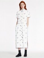 CK Calvin Klein Dragonfly Print Poplin Dress