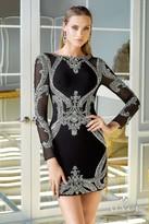 Alyce Paris Claudine - 2324 Short Dress In Black Silver