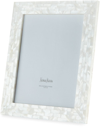 """Mother of Pearl The Jws Collections Mother-of-Pearl Picture Frame, White, 8"""" x 10"""""""