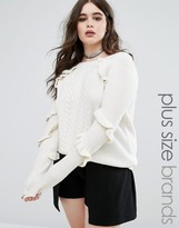 Alice & You Ruffle Detail Knitted Sweater