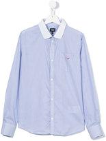 Armani Junior chest pocket striped shirt - kids - Cotton - 13 yrs