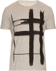 burberry brit brushstrokechecked print cotton tshirt