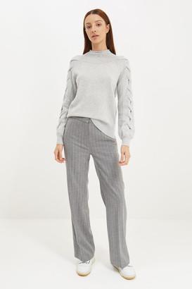 SABA Elle Cable Sleeve Cashmere Blend Knit