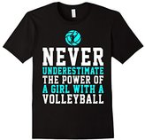 Never Underestimate A Girl With a Volleyball Shirt Gift