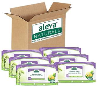 Set of 6 Aleva Naturals Bamboo Baby Wipes