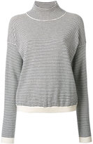 MiH Jeans high neck striped jumper - women - Cashmere - XS